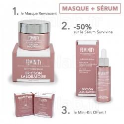 1 Crème Masque Reviviscent E763 Feminity -50% sur le Sérum Survivine E764 Feminity Ericson Laboratoire
