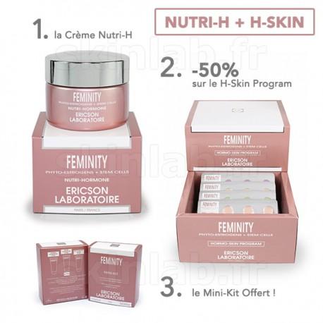 1 Crème Nutri-H E762 Feminity -50% sur le H-SKIN Program E765 Feminity Ericson Laboratoire