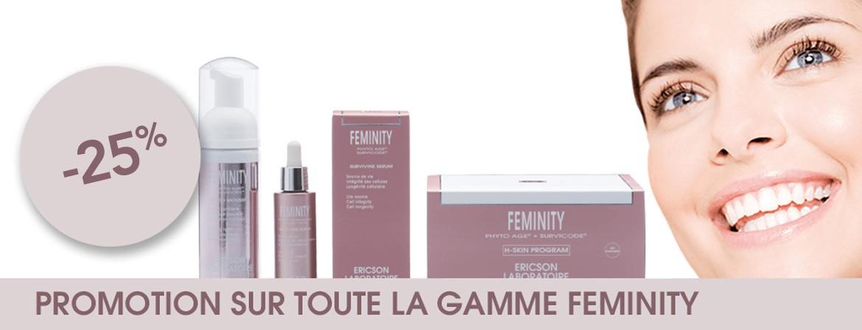 -25% Promotion sur toute la gamme Feminity !