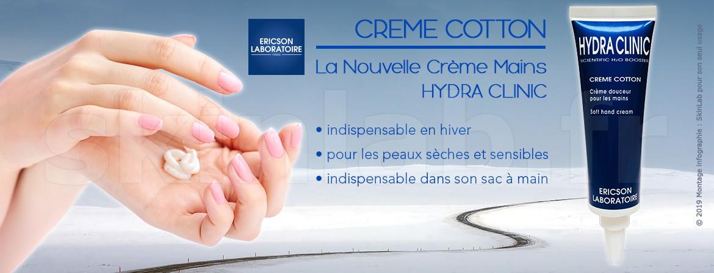 CREME COTTON, the New Hydra Clinic Hand Cream for Winter!