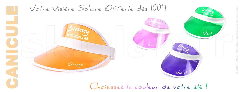 CANICULE : Choisissez la couleur de votre visière solaire dès 100€ !