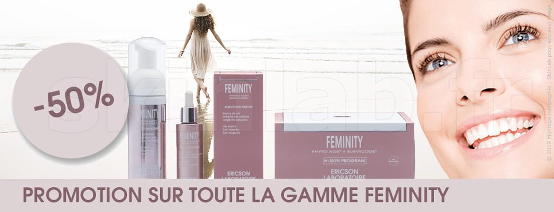 -50% Promotion sur toute la gamme Feminity !